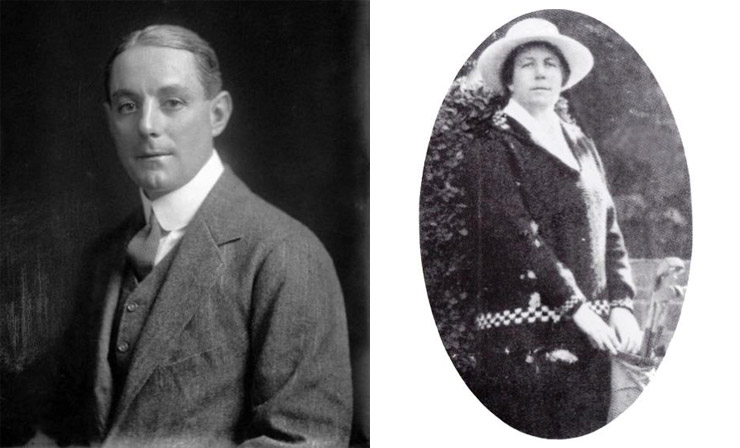 Arthur Duncan, left, in 1910. (S.P. Andrew, Alexander Turnbull Library, 1/1-013807-G). Eileen Williams, right. (RWGC)